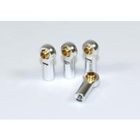 Absima Alu Rose Joints/Turnbuckles (4) silver 1:10