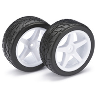 "Absima Wheel Set Buggy ""5 Spoke / Street"" front white 1:10 (2)"