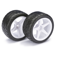 "Absima Wheel Set Buggy ""5-Spoke / Street"" rear white 1:10 (2)"