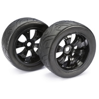 "Absima Wheel Set LP Truggy ""Street"" black 1:8 (2)"