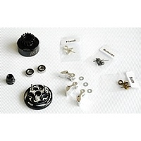 Clutch Bell  COMBO SET(Clutch bell 16T with vented*1+ Bearing 5*11 ( 2pcs) + 34 mm Flywheel (Black)*1 + 3pc Type cluth shoe (Alum) with 3 different sp
