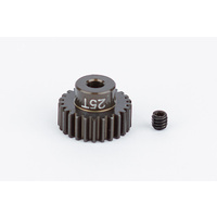 FT Aluminum Pinion Gear, 25T 48P, 1/8 shaft