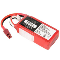 ARES AZSA1631 1000MAH 2-CELL/2S 7.4V 20C LIPO BATTERY. T-CONNECTOR: GAMMA V