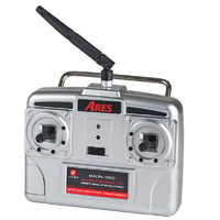 ARES AZSA1838M1 HITEC RED 4-CH TRANSMITTER W/100MA CHARGER (MODE 1): FOKKER