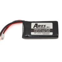 ARES AZSB10002S20TC 1000MAH 2-CELL/2S 7.4V 20C LIPO BATTERY. T-CONNECTOR: