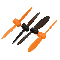 ARES AZSQ3052 NEON X PLUS PROPS: ORANGE (2pcs BLACK & 2pcs ORANGE)