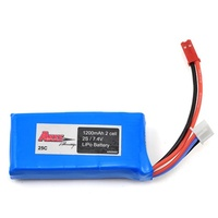 ARES  1200MAH 2-CELL/2S 7.4V 25C LIPO BATTERY. JST CONNECTOR:  ETHO