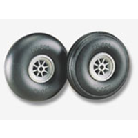 DUBRO 200T 2in DIA TREADED SURFACE WHEELS   (1 PAIR PER CARD)