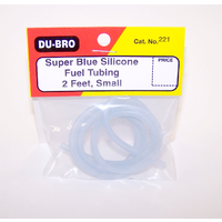 DUBRO 221 BLUE SILICONE TUBING, SMALL (2 FT PER PACK)