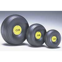 DUBRO 425TLC 1/4 SCALE TRED LGHT J3 WHEELS  (1 PAIR PER CARD)