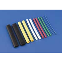 DUBRO 439 1/4in HEAT SHRINKTUBING YELLOW (3 PCS PER PACK)