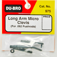 DUBRO 975 LONG ARM MICRO CLEVIS (FOR .062) BLACK