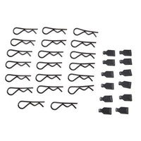 1/8 Body Clips (20)/Rubber Pull Tabs (12)
