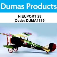DUMAS 1819 35 INCH NIEUPORT 28 R/C ELECTRIC POWERED
