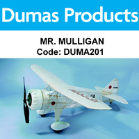 DUMAS 201 MR. MULLIGAN WALNUT SCALE 17.5 INCH WINGSPAN RUBBER POWERED