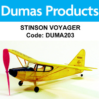 DUMAS 203 STINSON VOYAGER WALNUT SCALE 17.5 INCH WINGSPAN RUBBER POWERED