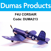 DUMAS 213 F4U CORSAIR WALNUT SCALE 17.5 INCH WINGSPAN RUBBER POWERED