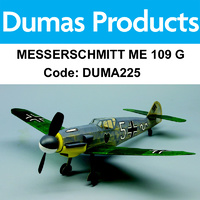 DUMAS 225 MESSERSCHMITT ME 109 G WALNUT SCALE 18 INCH WINGSPAN RUBBER POWER