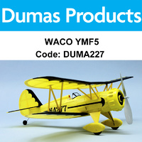 DUMAS 227 WACO YMF5 WALNUT SCALE 18 INCH WINGSPAN RUBBER POWERED