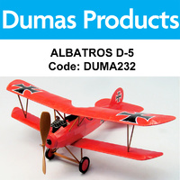DUMAS 232 ALBATROS D-5 WALNUT SCALE 18 INCH WINGSPAN RUBBER POWERED