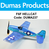 DUMAS 237 F6F HELLCAT  WALNUT SCALE 18 INCH WINGSPAN RUBBER POWERED