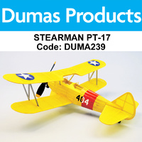 DUMAS 239 STEARMAN PT-17  WALNUT SCALE 18 INCH WINGSPAN RUBBER POWERED