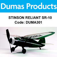DUMAS 301 STINSON RELIANT SR-10 30 INCH WINGSPAN RUBBER POWERED