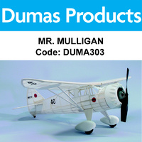 DUMAS 303 MR. MULLIGAN 30 INCH WINGSPAN RUBBER POWERED