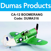 DUMAS 316 CA-12 BOOMERANG 30 INCH WINGSPAN RUBBER POWERED
