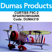 DUMAS 319 CURTISS F9C-2 SPARROWHAWK 30 INCH WINGSPAN RUBBER POWERED