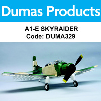 DUMAS 329 A1-E SKYRAIDER 30 INCH WINGSPAN RUBBER POWERED