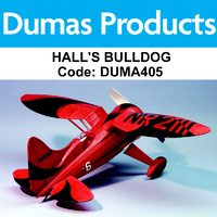DUMAS 405 HALL'S BULLDOG  RUBBER POWERED 28 INCH WINGSPAN RUBBER POWERED