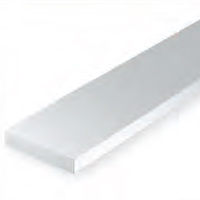 EVERGREEN 189 WHITE STYRENE STRIP .125 X .250 (PACK OF 5)
