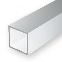 EVERGREEN 254 35CM PLASTIC SQUARE TUBING .250 (PACK OF 2)