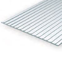 EVERGREEN 4524 1MM THICK 15 X 30CM METAL SEAM ROOF  1/2 (EACH)