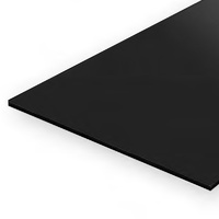 EVERGREEN 9514 15 X 30CM BLACK STYRENE SHEET .030 (PACK OF 2)