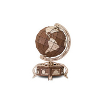 Wooden Globe - rotating ball and Secret Lockbox