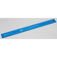 EXCEL 55779 EXCEL 12 INCH DELUXE SCALE MODEL REFERENCE RULER