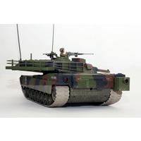 HOBBY ENGINES ECONOMY VERSION M1A1 ABRAMS TANK CAMOUFLAGE W/ 2.4GHZ RADIO,