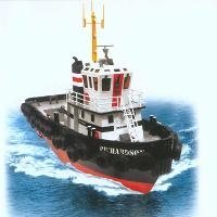 PREMIUM EDITION 1/36 SCALE TUG BOAT WITH 2.4g PROPORTIONAL RADIO CONTROL