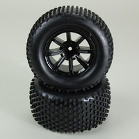 HELION HLNA0214 TIRES. MOUNTED. BLACK WHEEL. PAIR (DOMINUS. TR)