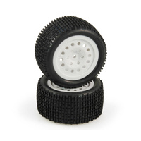 HELION HLNA0318 TIRE AND WHEEL SET  REAR  WHITE  PREMOUNTED (CRITERION)