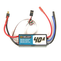 HELION HLNB0038 40A WATER-COOLED. WATER-PROOF BRUSHLESS ESC:  RIVOS