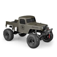 "JCI Creep Crawler Body Fits Traxxas TRX-4 Sport, Enduro, Axial 12.3"" wheelbase Clear heavy-duty polycarbonate with protective film Window masks and de"