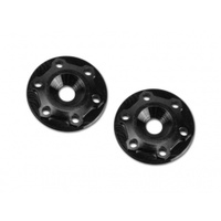 Finnisher - 1/8th buggy / truck - screw-in type aluminum wing button - black