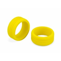 Dirt Wheel - foam grip, yellow - 2pc