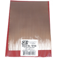 K&S 16144 CORRUGATED SHEETS .003 COPPER 5IN X 7IN (2 PIECES PER BAG) CRIMPE