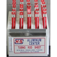 K&S 3000 ALUMINUM CENTER ASSORTMENT WITH RACK