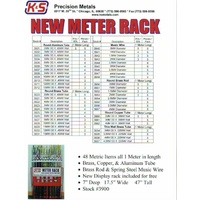 K&S 3900 1 METER METRIC ASSORTMENT WITH DISPLAY RACK