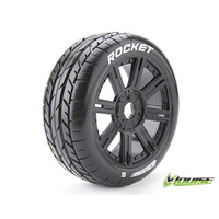 B-Rocket black spoke 1/8 tyre & rim